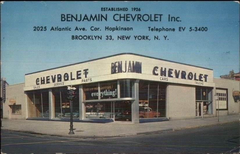1962 Benjamin Chevrolet Inc Dealership Brooklyn New York