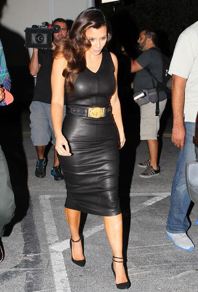 More Pics Of Kim Kardashian Leather Dress In 2019 Dare To Leather