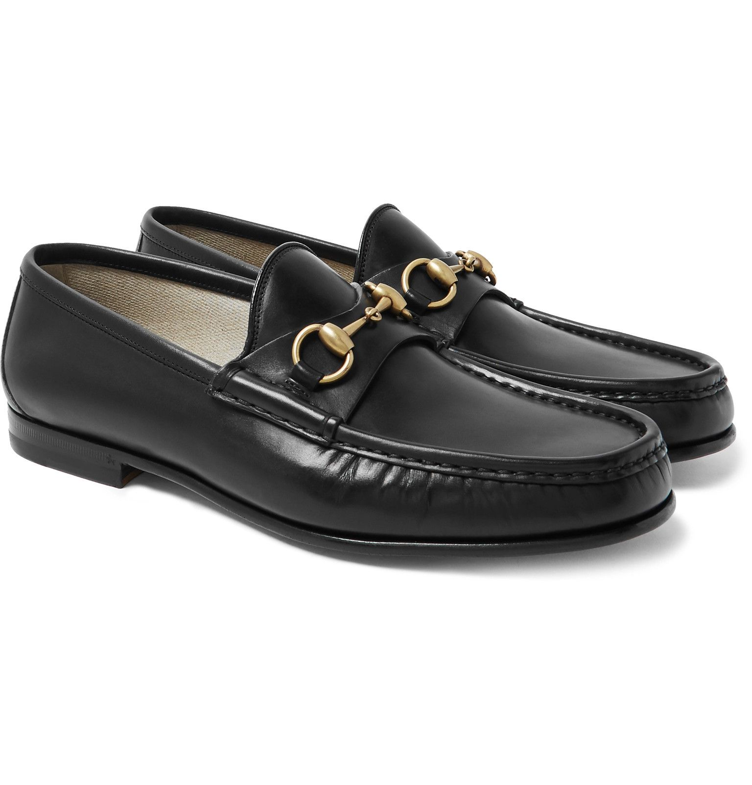 Gucci - Roos Horsebit Leather Loafers