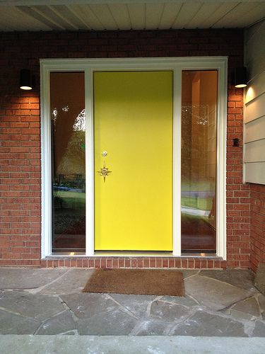 Hello To All Finishing Up A Gut Rehab On My Mcm 1957 Ranch And Am Totally Stuck On Outdoor Modern Entry Door Mid Century Modern Exterior Modern Exterior Doors