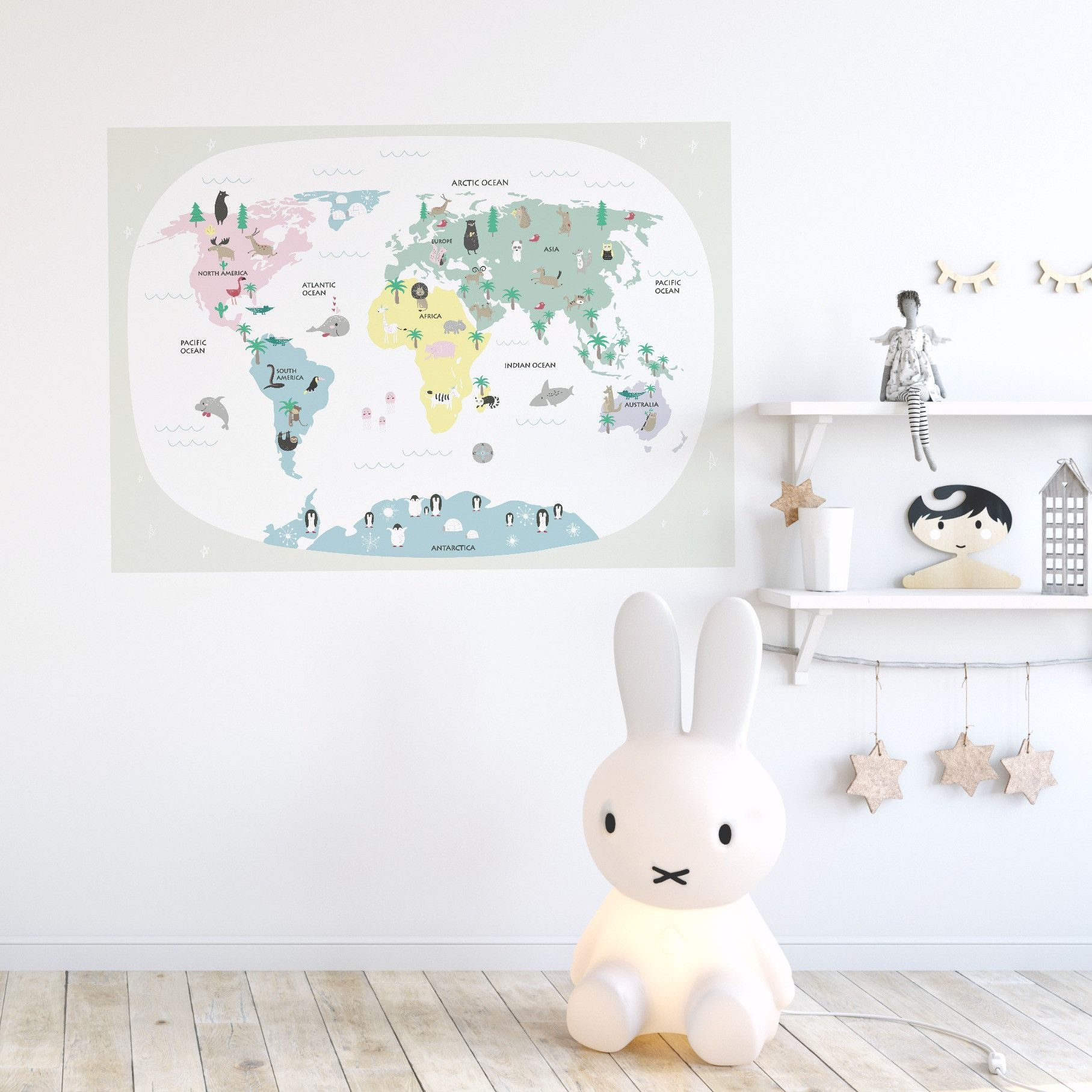 Kids world map pastels alexanders room pinterest removable kids world map removable wall stickerour inspirational quote decals make decorating so easy just peel and stick no framing no hanging and if you wan gumiabroncs Images