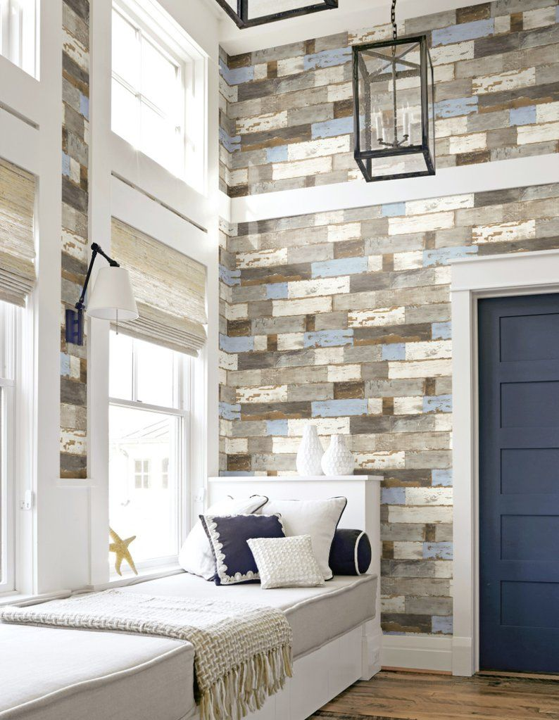 Colorful Shiplap Peel And Stick Wallpaper By Nextwall Wood Wallpaper Peel And Stick Wallpaper Shiplap