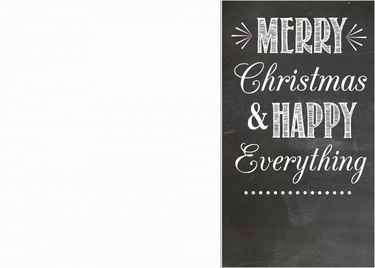 Free Chalkboard Christmas Card Templates  Christmas Card Templates