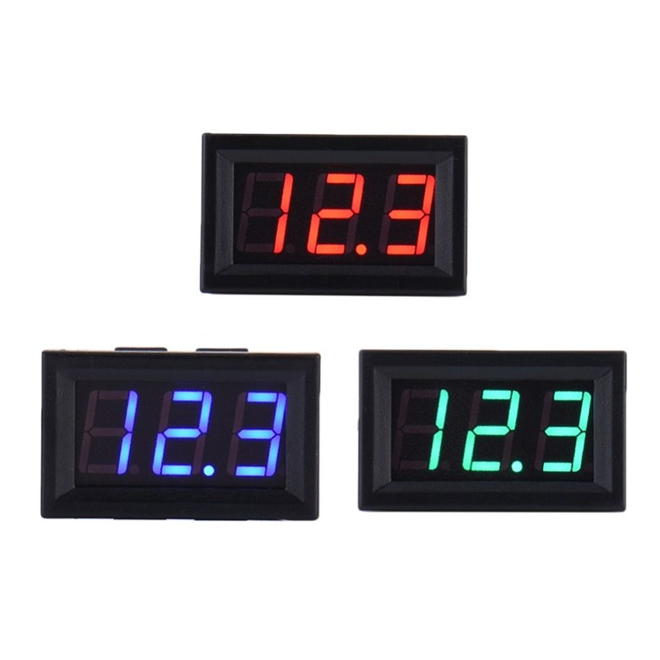 Led Dc Digital Voltmeter Car Auto Home Use Voltage Display 2 Wires Wiring In Red Support Accessoreis