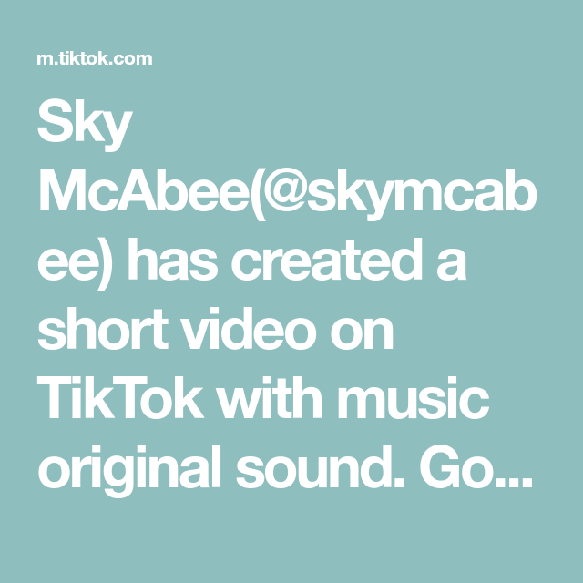 Sky Mcabee Skymcabee Has Created A Short Video On Tiktok With Music Original Sound Go Make This Now Foodie Dejatuhuella Video The Originals Crazy People