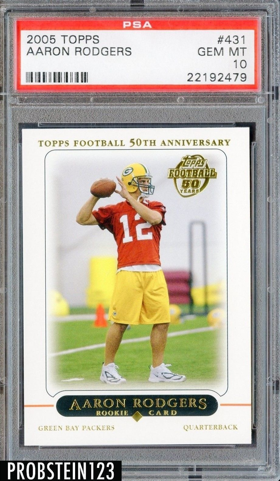 2005 topps aaron rodgers green bay packers football