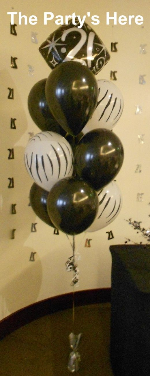 Helium Balloon Bouquet For A 21st Birthday Choose Any Colours Prints And Foils Well Arrange It To Suit Your Occasion Thepartyshereau