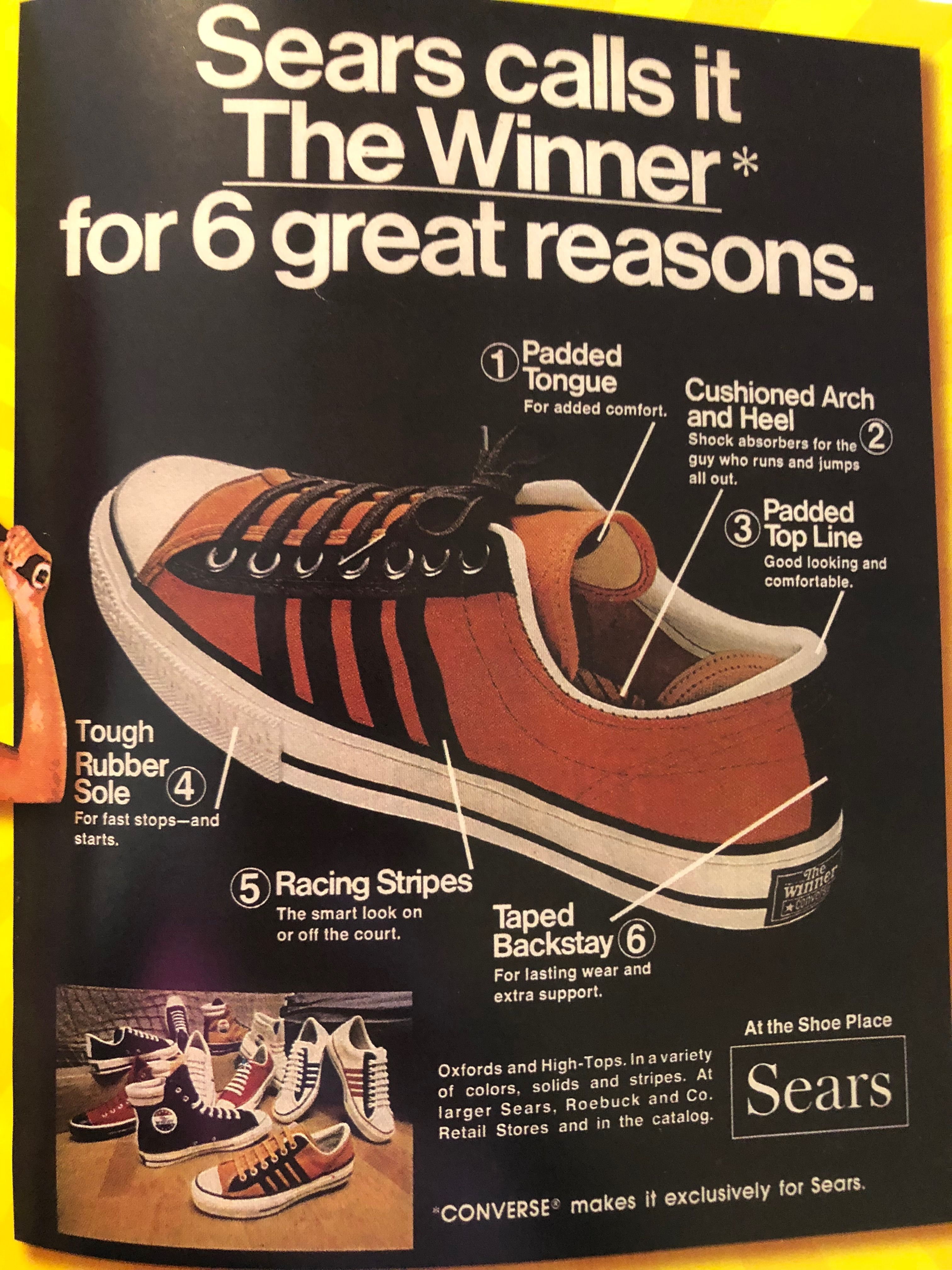 5b768f8a Converse 'the Winner'- made exclusively for Sears. How times have changed!
