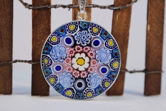 32mm authentic murano glass millefiori pendant by debdyerdesigns 32mm authentic murano glass millefiori pendant by debdyerdesigns aloadofball Images