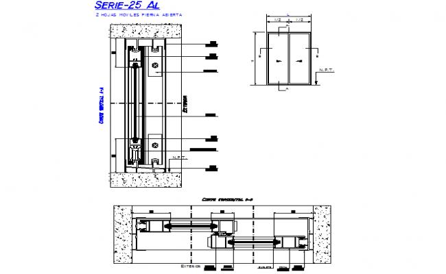 Sliding Door Elevation And Section Detail Dwg File Sliding Doors Aluminium Sliding Doors Sliding Door Design