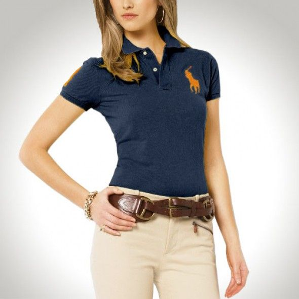 Ralph Lauren Women Yellow Soft Green Big Pony Polo
