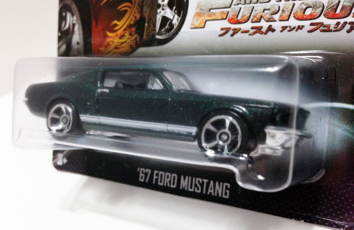 HOT WHEELS 2013 FAST AND FURIOUS  '67 FORD MUSTANG (CHASE). Please visit hotkustoms.blogspot.sg/ for more images in gallery. Cheers!