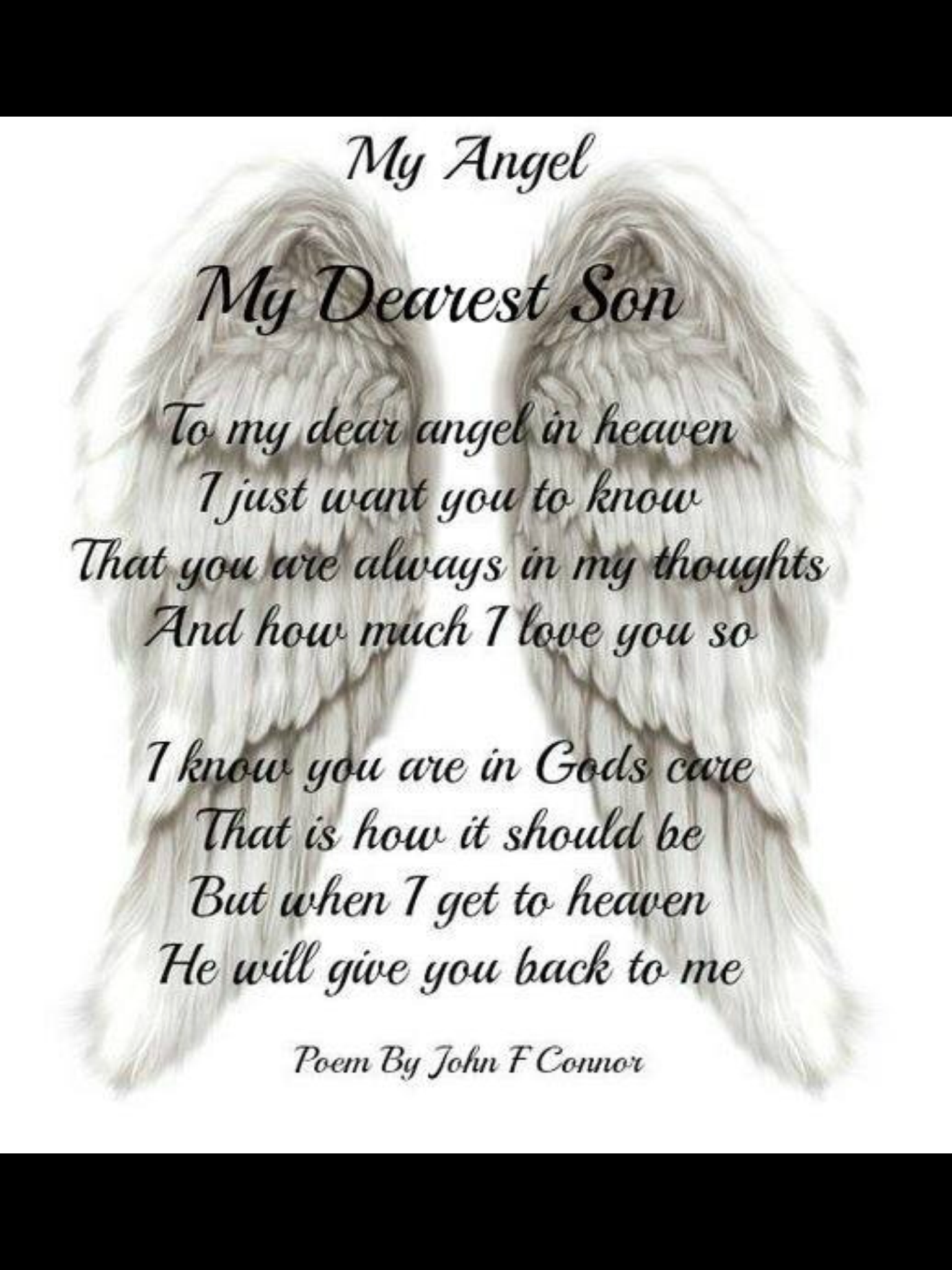 Pin by Diane Wright on Loosing my son | Angel quotes, Angels