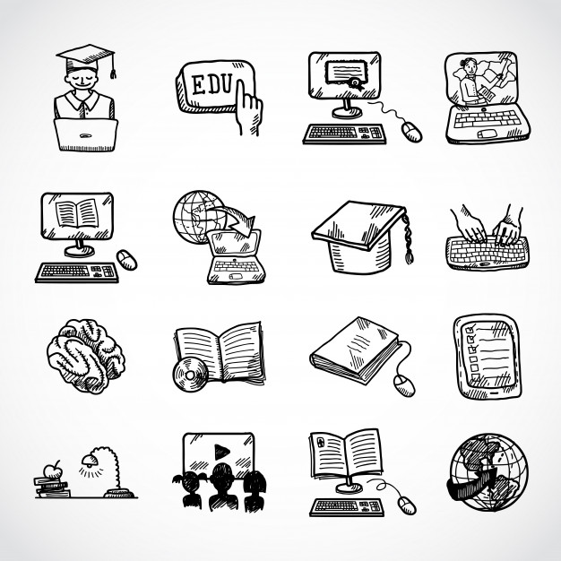 Download Online Education Icon Sketch Doodle Hand Drawn Style For Free Education Icon Online Education How To Draw Hands