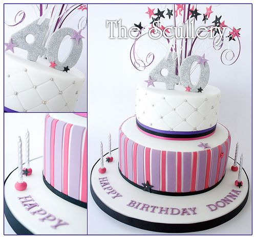 Ladies 40th Birthday Cake 40 birthday cakes 40 birthday and