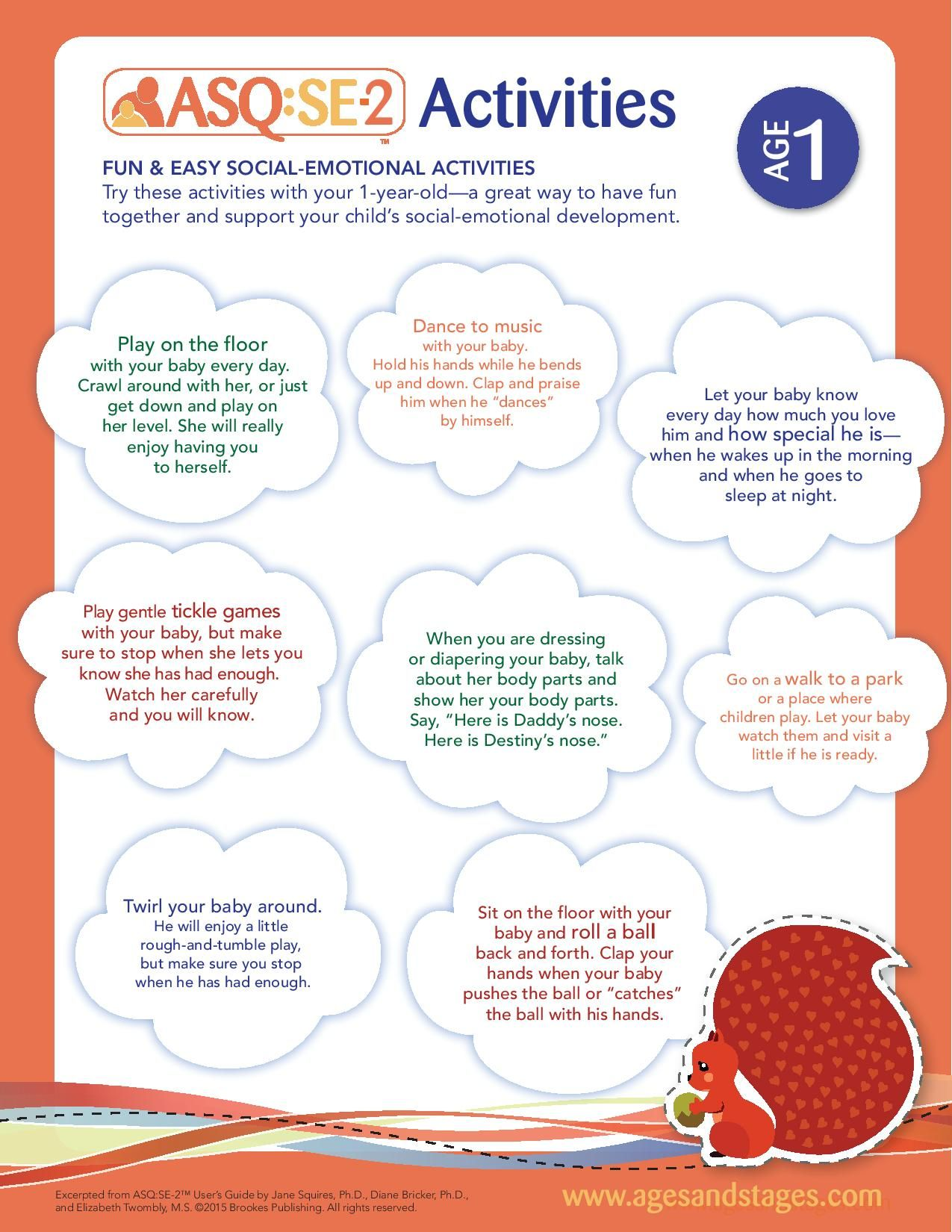Age 1 Social Emotional Activities