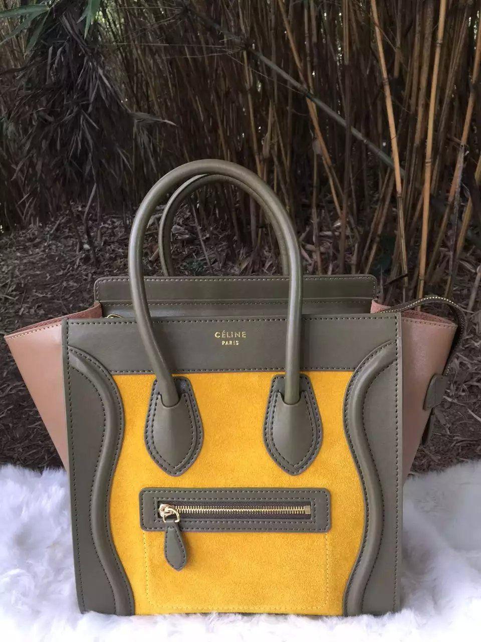 New Arrival 2016 Celine Bags Outlet-Celine Micro Luggage Handbag in  Multi-color Calfskin C0406-KYT 8a4a458a885b1