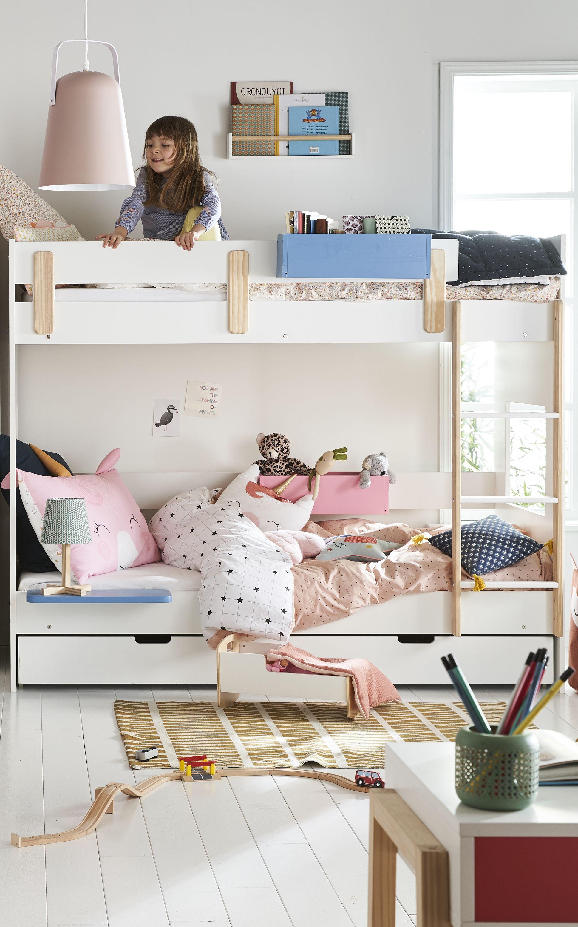 Lit mezzanine mi-hauteur LIGNE EVEREST - blanc/bois en 2019 | La ...
