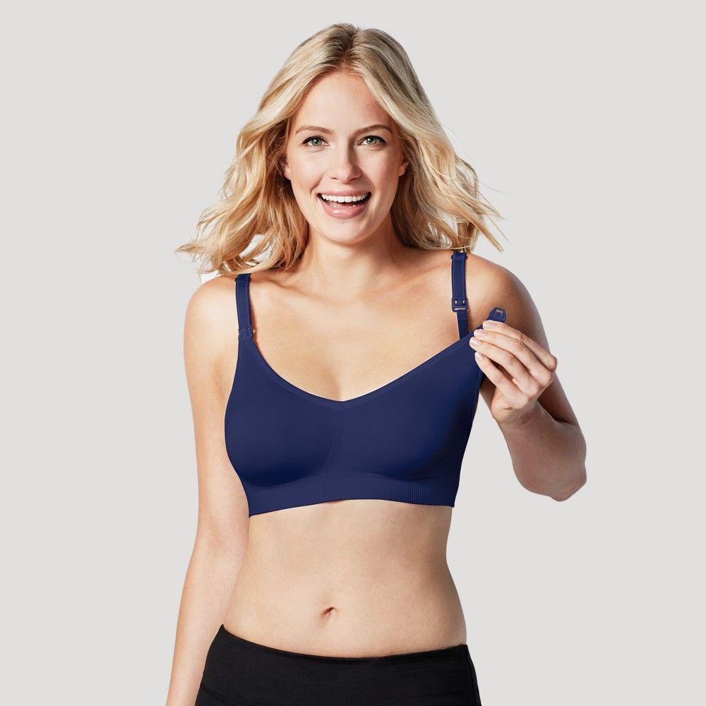 87680d5d4d4dc Bravado! Designs Women s Body Silk Seamless Nursing Bra - Dark Blue ...