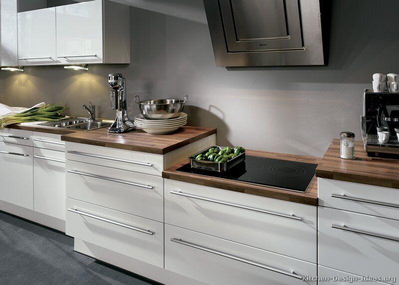 Kitchen Idea of the Day Modern white kitchen with a step-down - alno küchen arbeitsplatten