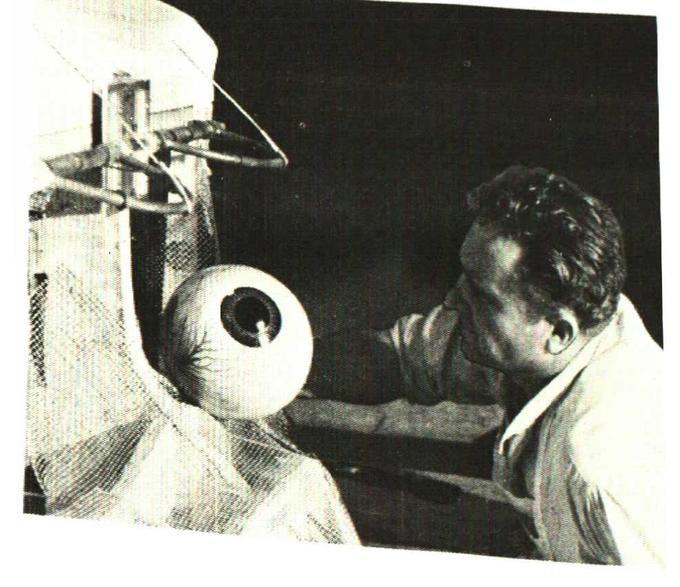 King Kong (1933) Fred Reefe working on Kong' eye.