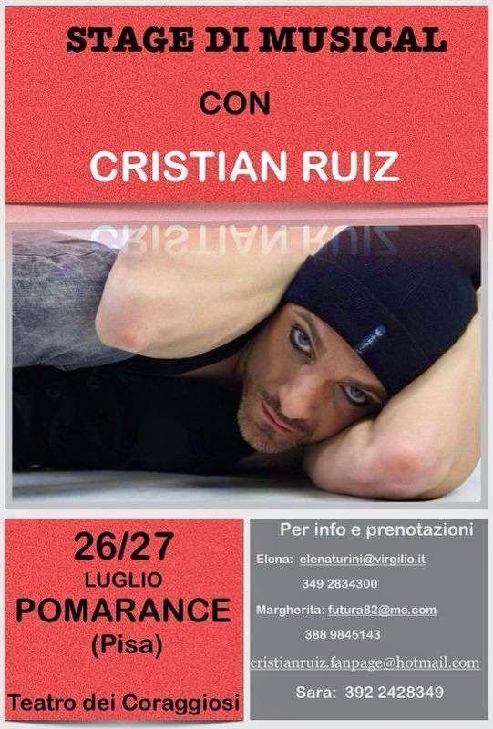 TG Musical e Teatro in Italia: Stage di musical con Cristian Ruiz in Toscana