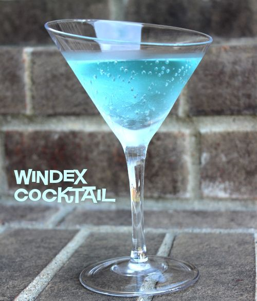 Windex Cocktail recipe - UV Blue Raspberry Vodka, Lemon-Lime soda, Vodka http://mixthatdrink.com/windex-cocktail/