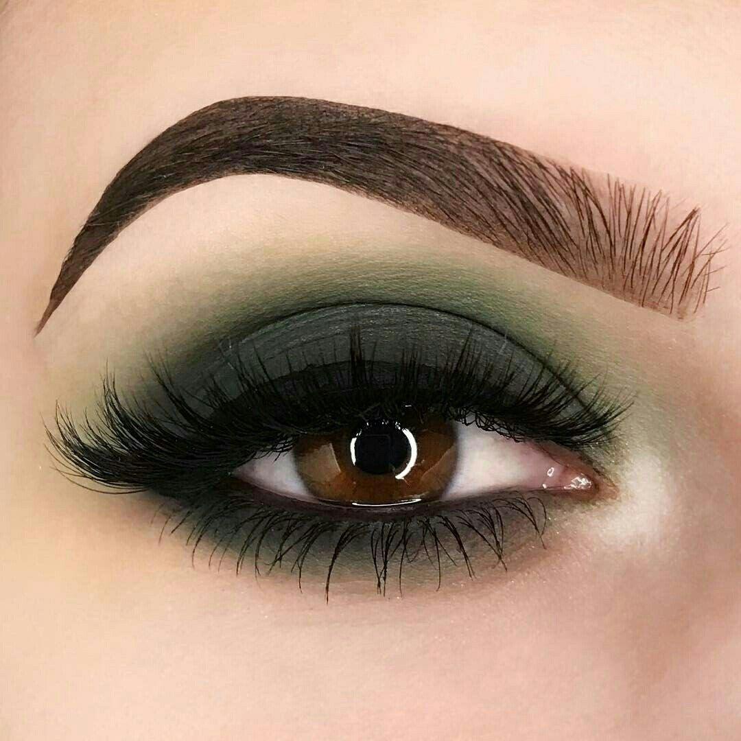 Matte khaki green Eyeshadow look greeneyeshadows Green