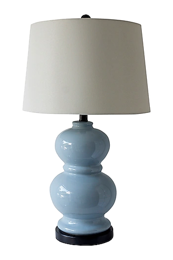Theos Soft Blue Modern Style Table Lamp Blue Table Lamp Table Lamp Table Style