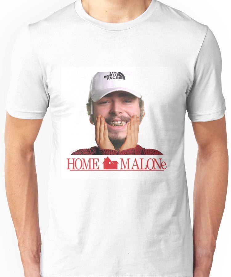f3013217 POST MALONE - HOME MALONE Unisex T-Shirt | Products | Shirts, Post ...
