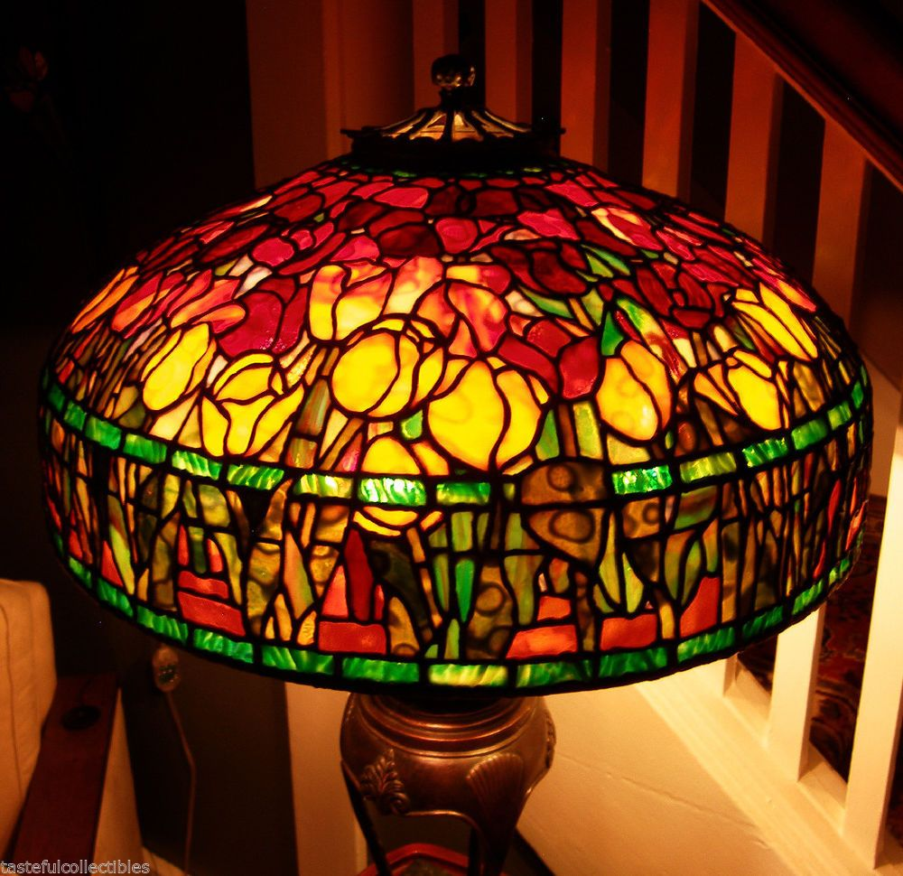 Tiffany Reproduction Stained Glass Lamp Shade 22 Quot Red