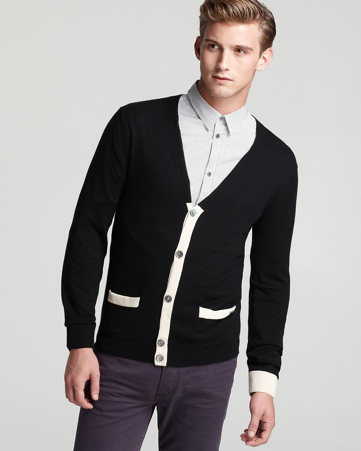 MARC BY MARC JACOBS Contrast Trim Cardigan | Bloomingdale's