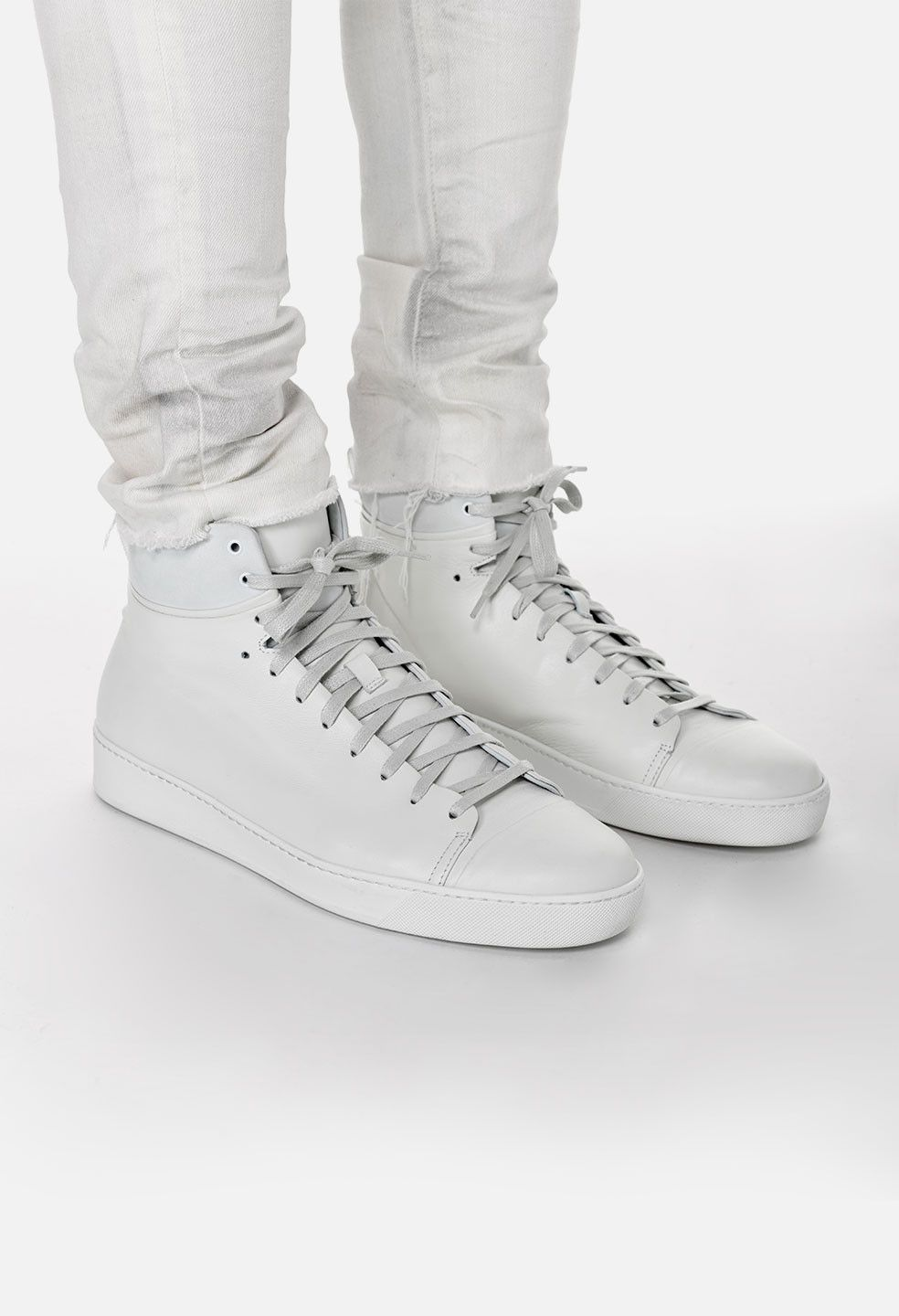 Leather sneakers men, Leather high tops
