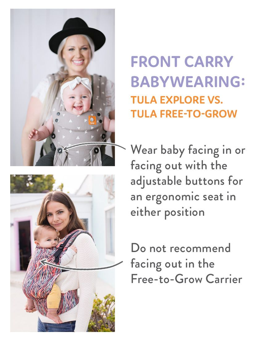 f9d7d775d8c Front Carry Babywearing - Tula Explore Baby Carrier and Tula Free-to-Grow  Baby Carrier