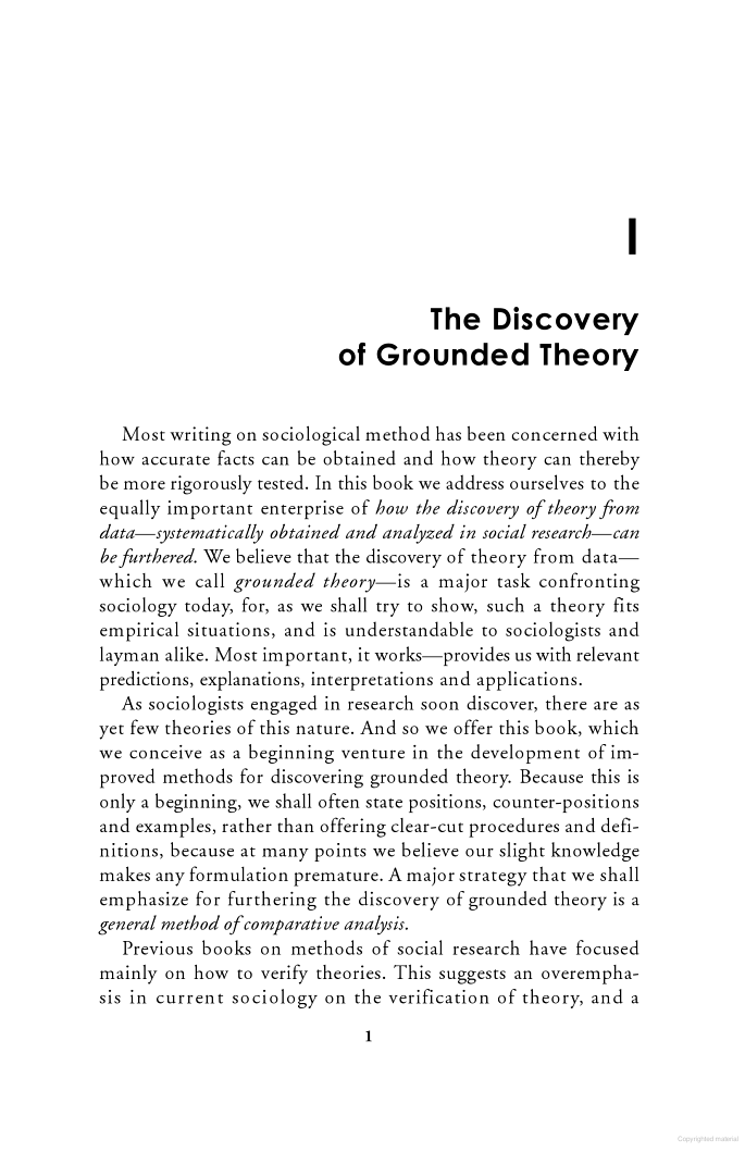 The Discovery Of Grounded Theory Strategies For Qualitative