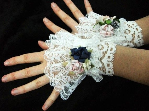 The Northern Bride: Steampunk/Victorian Romantic frilly lace Cuffs