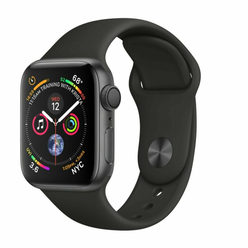 For Sale Apple Watch Series 4 Gps 44mm Space Gray Case With Black Sport Band Mu6d2lla Forsale Apple Watch Series Apple Watch Kaufen Apfeluhr