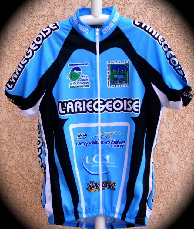Le maillot de l'Ariégeoise offert lors de la Cyclo La Mountagnole 2013