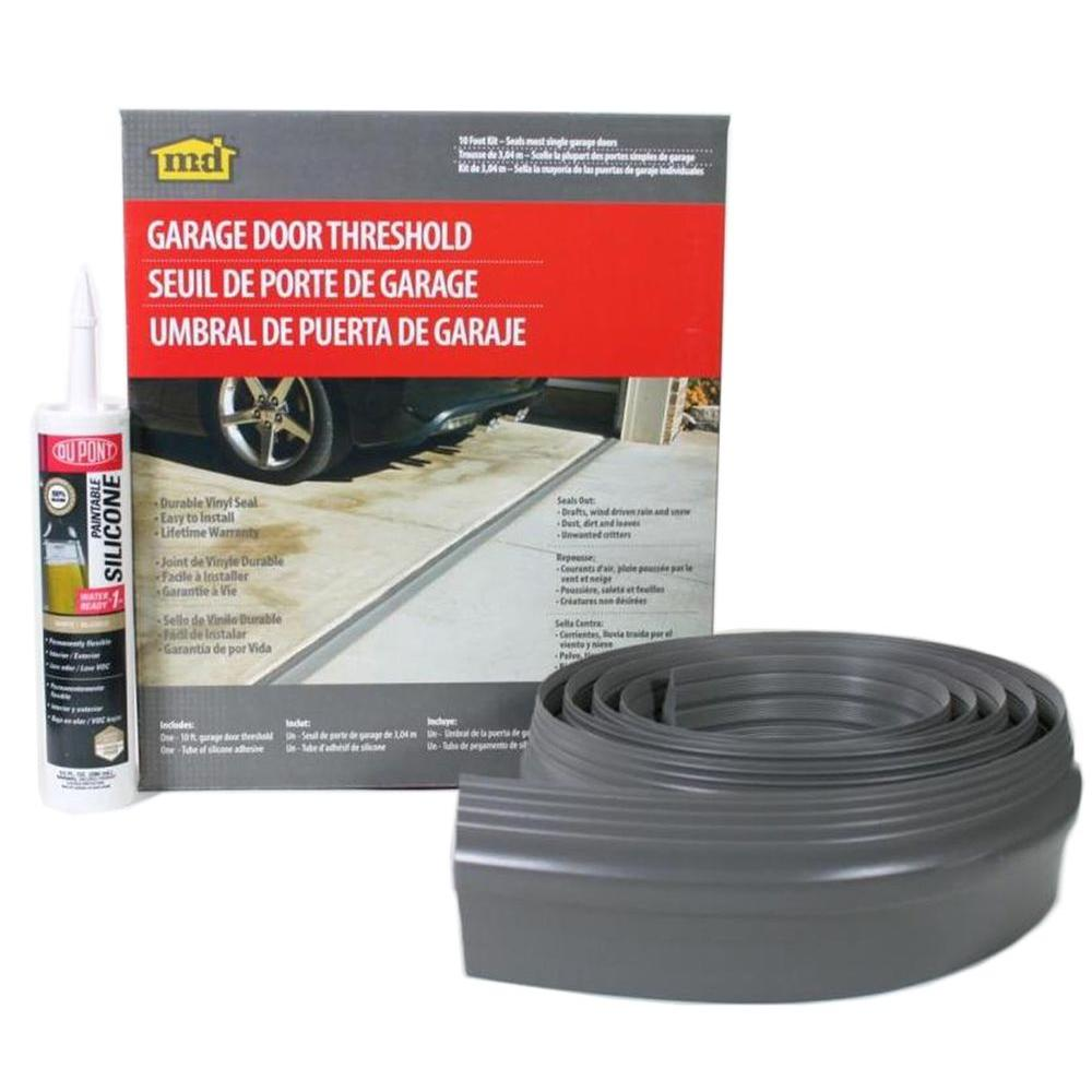 M D Building Products 10 Ft Gray Garage Door Threshold Kit 50100 The Home Depot In 2020 Garage Door Threshold Garage Door Seal Garage Door Threshold Seal