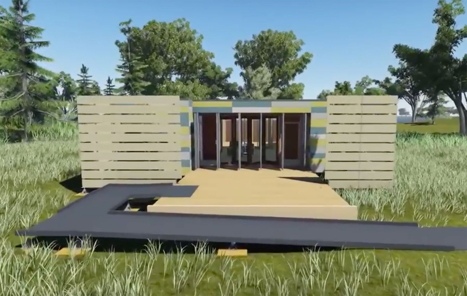 Building off grid homes - Solar Powered Shelter3 Is An Off The Grid Home Built To Withstand Tornadoes