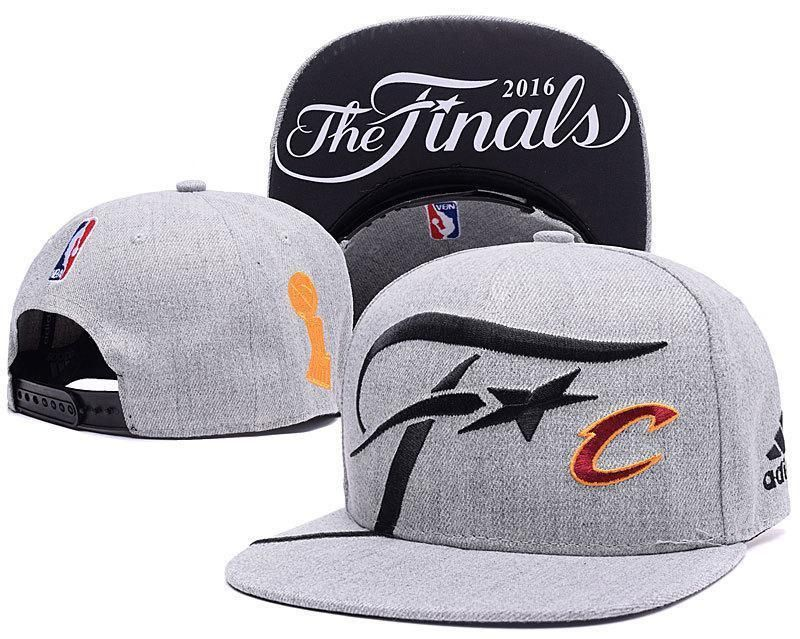 6bf5137e392 Mens Adidas NBA Finals Cleveland Cavaliers Locker Room 2016 The Finals  Official SnapBack Hat - Grey