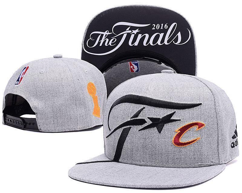 06de63a6312 Mens Adidas NBA Finals Cleveland Cavaliers Locker Room 2016 The Finals  Official SnapBack Hat - Grey