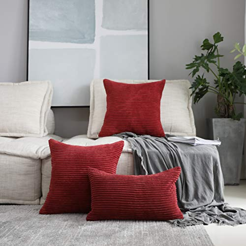 """SOFT CRUSHED VELVET SCARLET RED 18 x 18/"""" 45 x 45CM CUSHION COVER"""