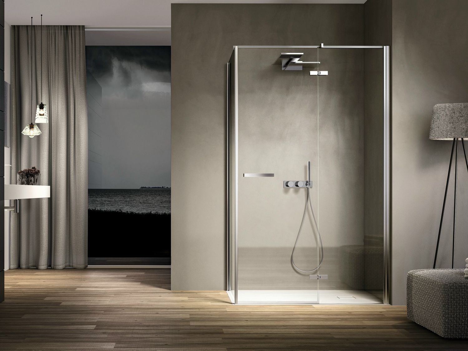 Corner Rectangular Glass Shower Cabin SMART 04 By IdeaGroup
