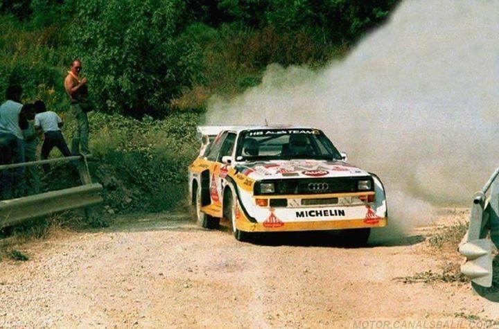 Ra Walter Rhrl Christian Geistdrfer 27 Rally Sanremo 1985 Audi