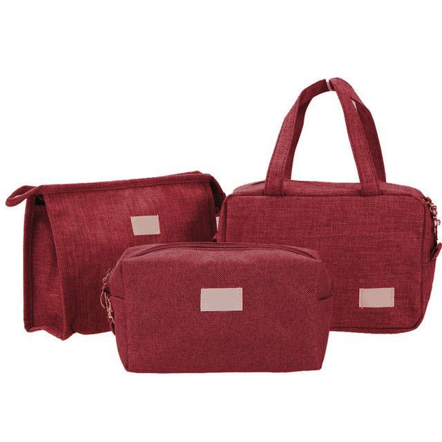2017 3pcs/set New Fashion Women Makeup Cosmetic Bag Travel