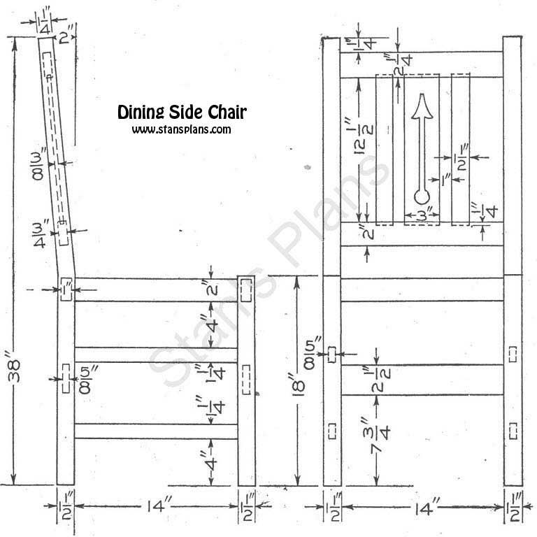 Dining Room Chair Plans Dining Room Chairs Blueprints Chair