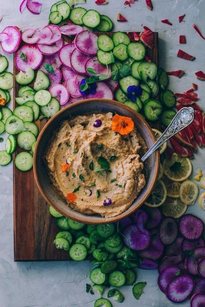 Cauliflower Garlic Hummus - My Tiny Laguna Kitchen Roasted Cauliflower Garlic Hummus is fully paleo