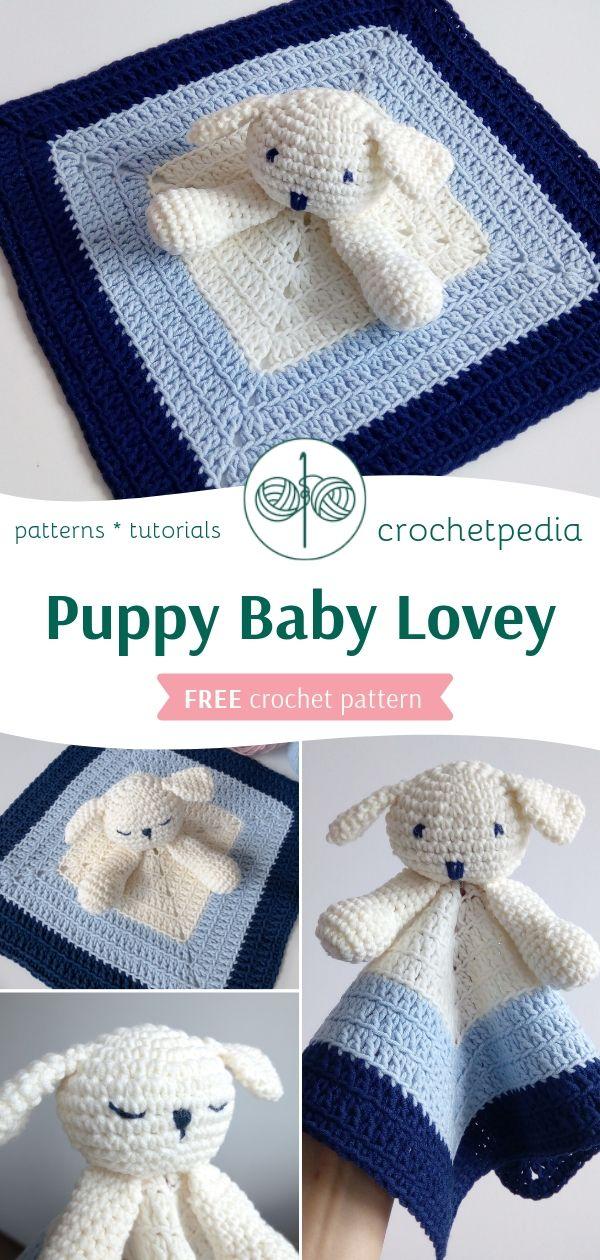 Photo of Puppy Baby Lovey – Free Crochet Pattern – Crochetpedia