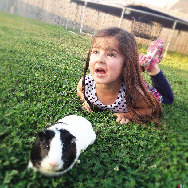 jasmine & her guinea pig
